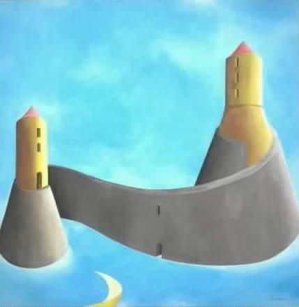 castelli di sabbia (in aria) acrilico su tela 60x60